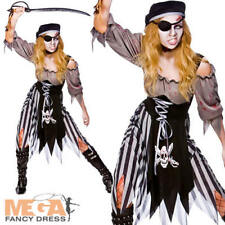 Zombie Pirate Ghost Ladies Halloween Fancy Dress Horror Womens Adults Costume