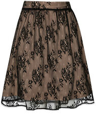 Vive Maria BLACK FAIRY Lace Flower Floral Skirt / ROCK Rockabilly