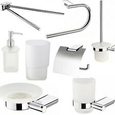 SET GARNITURE POUR WC DISTRIBUTEUR DE SAVON PORTE-SERVIETTES RING