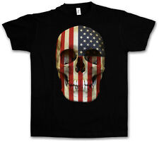 USA STARS & STRIPES Skull FLAG T-Shirt - Skull Banner America US T-Shirt 3XL