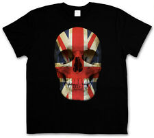 UNION JACK UK Skull FLAG T-Shirt - Skull Great Britain England MOD T-Shirt