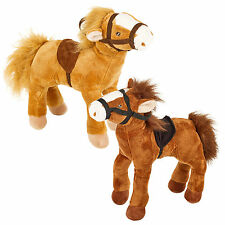 Soft Plush Cuddly Brown Horse Toy Teddy Animal Kids Toys Xmas Gift Present New