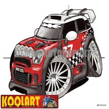 Koolart Cartoon BMW Mini Cooper WRC Rally - Mens Gifts (3053)