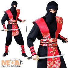 Mens Ninja Warrior Master Japanese Fancy Dress Adult Halloween Costume Outfit