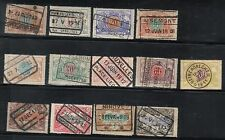 BELGIUM 1902 RAILWAY PARCEL POST SELECTION USED