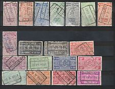 BELGIUM 1940 RAILWAY PARCEL POST SELECTION USED
