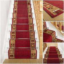 rouge uni tapis escalier pour escalier etroit moderne qualite petit prix neuf ebay. Black Bedroom Furniture Sets. Home Design Ideas