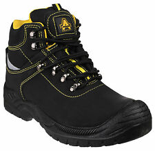 Amblers FS213 Safety Mens Black Steel Toe Cap Industrial Work Boots Shoes UK3-13