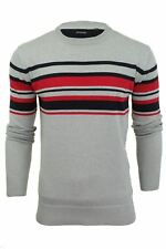 Mens Crew Neck Jumper by Brave Soul with Stripe Detail