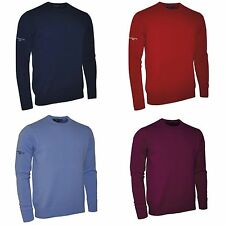 Glenmuir Morar Mens Lambswool Crew Neck Sweatshirt Knitwear 5 Colours