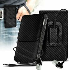 Belt Clip Pouch Holster Vertical Flip Case Holder✔In Ear Headset✔Xiaomi