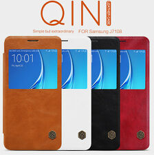 Nillkin Qin Series Window Leather Flip Cover Case for Samsung Galaxy J7 (6) 2016