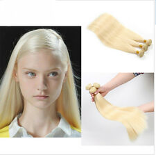 1 Bundle Brazilian Virgin Remy Straight Human Hair Weft Extension 50g Blonde#613