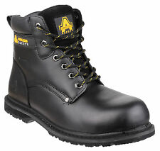Amblers FS146 Waterproof Safety Boots Mens Black Steel Toe Cap Shoes UK6-13