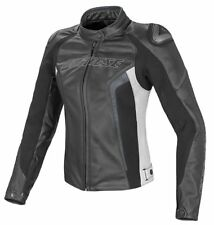 Dainese 2533697 Giacca Donna Giacca in pelle Moto RACING RACING D1 nero/bianco