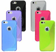 Silicone Custodia Ciotola Tagua per Iphone SE + Pellicola Display