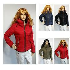 NEW Womens LADIES JACKET Quilted jacket Sleeves WINTER COAT Jacket Size 8 to 14