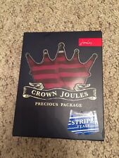 Mens Joules Crown Stripe Tease Burgundy Boxer Shorts Size Small  BRAND NEW BNWT