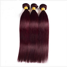 3 pcs Brazilian Virgin Remy Straight Human Hair Weft Extension #99J BURG 50g/pc