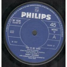 """HARRY SECOMBE This Is My Song 7"""" VINYL Solid Centre Label Design B/W Song Of"""
