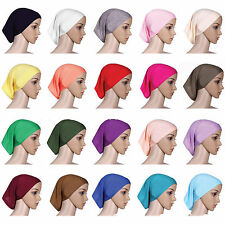 Women Islamic Muslim Head Scarf Cotton Underscarf Hijab Cover Headwrap Bonnet