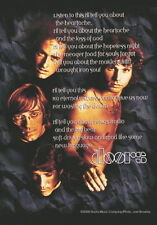 The Doors Fahne Flagge Song Lyrics Posterflagge textil flag Textilposter