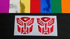 Autobots Transformers Mirror Chrome Vinyl Die Cut Car Van Wall Stickers Decals