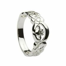 New Silver Irish Celtic Claddagh Ring Made In Ireland Hallmarked Gift Boxed