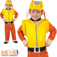 Paw Patrol Rubble Kids Fancy Dress Boys Childs Cartoon TV Dog Costume Outfit New