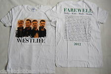 WESTLIFE PAINT IT FAREWELL TOUR 2012 T SHIRT NEW OFFICIAL RARE COAST TO COAST