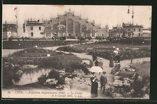 AK Lyon, Exposition Internationale 1914, Le Jardin et le Grand Hall, Ausstellun