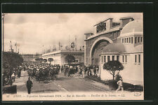 AK Lyon, Exposition Internationale 1914, Rue de Marseille, Pavillon de la Soiri