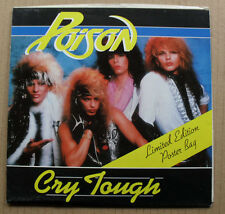 """POISON CRY TOUGH 7"""" LIMITED EDITION POSTER SLEEVE WITH LOOK WHAT THE CAT DRAGGED"""