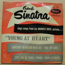 FRANK SINATRA YOUNG AT HEART EP COVER IS STAINED AND TORN ON THE OPENING UK