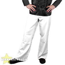 MENS WHITE 1970'S DISCO TROUSERS PANTS FANCY DRESS COSTUME FLARES 70S 1960'S 60S