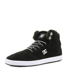 Mens DC Crisis High Black White Leather Simple Hi Top Skate Trainers UK Size