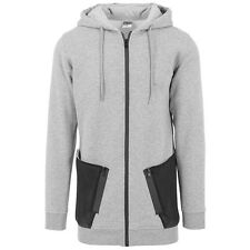 Urban Classics Long Peached Tech Zip Hoody Jacke Kapuzenjacke grey TB1240-00119