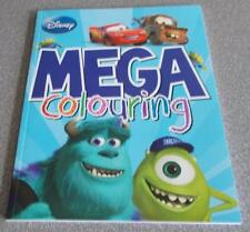Kids Activity Book - Mega Colouring - DISNEY - CARS / MONSTERS INC / NEMO - New