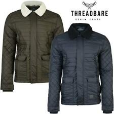 Mens Quilted Padded Jacket Threadbare Ringo Hunter Style Winter Coat DMV026
