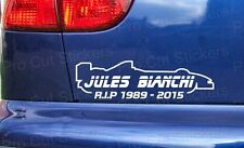 Jules Bianchi RIP Memorial Tribute Custom Car Window Bumper Stickers Decal ref:1