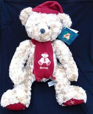 HARRODS LARGE LIMITED EDITION CHRISTMAS TEDDY BEAR FOOT DATED 1999 WITH TAGS