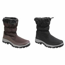 Cotswold Womens/Ladies Frost Pull On Fur Trim Winter Boots