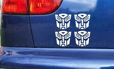 Autobots Transformers Funny Custom Car Wall Art Window Bumper Stickers Decals x4