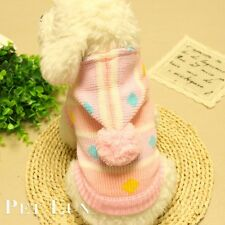 Pet Dog Warm Clothes Coat Jumper Sweater Hoody Puppy Cat Hooded Knitwear Costume