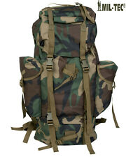 Army Combat Military Travel Rucksack Camping Woodland Camo  Backpack Surplus 65L