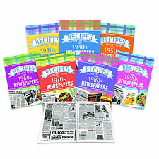 Personalised Recipes & Cooking Ideas Softback Book-Choose Decade 1930's to 90's