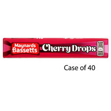 MAYNARDS BASSETTS CHERRY DROPS SWEETS ROLL 45G X 40 TREAT GIFTS PARTY HALLOWEEN