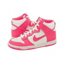 Nike Womens / Girls Trainers, Shoes, Dunk High White / Pink Rose UK 4.5 to 6