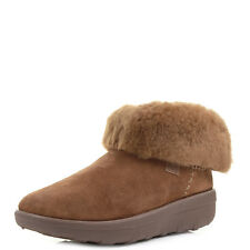 Womens Fitflop Mukluk Shorty Chestnut Shearling Lined Ankle Boots Size