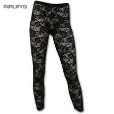 SPIRAL DIRECT Ladies Goth AO Gothic Elegance LACE Leggings All Sizes